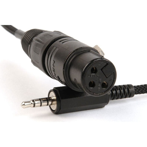 Remote Audio CATCiPXLRF Input cable for iPad and iPhone. XLR3F to 3.5mm TRRS plug.