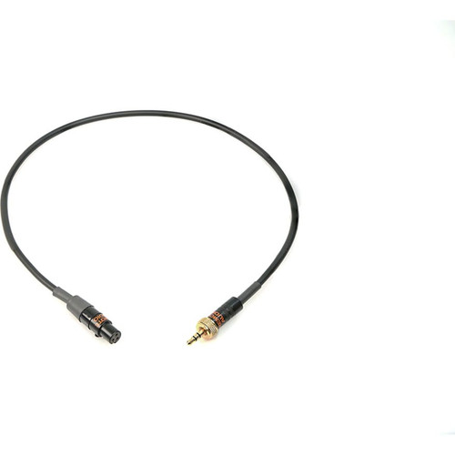 Remote Audio CASENSK100TL Unbalanced adapter cable for Sennheiser transmitters. TA3F (balanced) to 3.5mm TRS locking plug. 18 in.