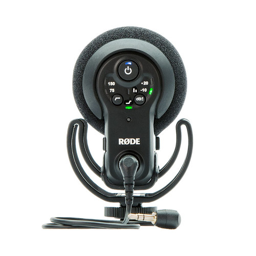 Rode VideoMic Pro+ with Rycote Lyre Suspension Mount rear