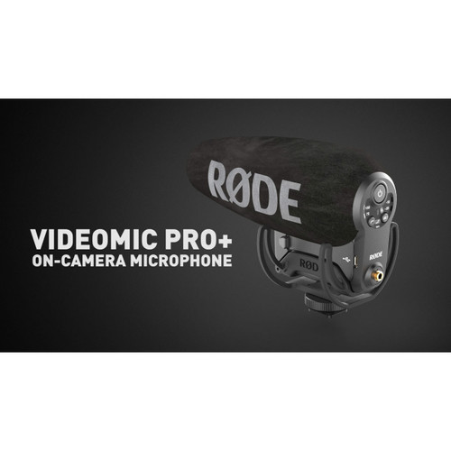Rode VideoMic Pro+ with Rycote Lyre Suspension Mount