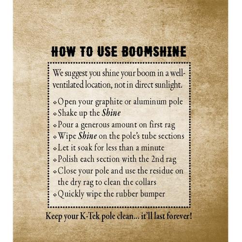 K-Tek KBOS K-Tek Boomshine Kit - 4 oz. of Boomshine and two Microfiber Cloths
