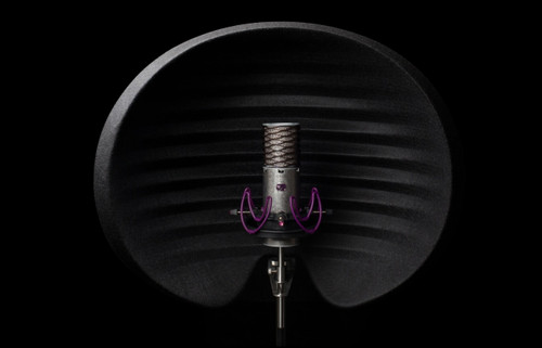 Aston Microphones Halo Reflection Filter, front. (Black)