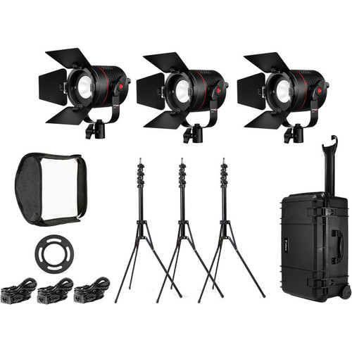 Fiilex K301 Pro Plus: Three Light P360 Pro Plus LED Interview Travel Kit