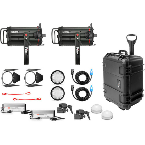 Fiilex X254: Two Light Q1000-DC LED Fresnel Travel Kit