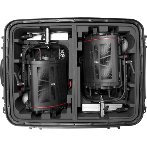 Fiilex X254: Two Light Q1000-DC LED Fresnel Travel Kit (Case)