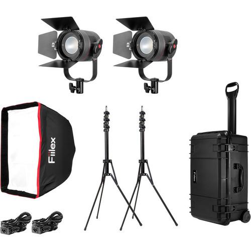 Fiilex P K201 Pro Plus: Two Light P360 Pro Plus LED Interview Travel Kit
