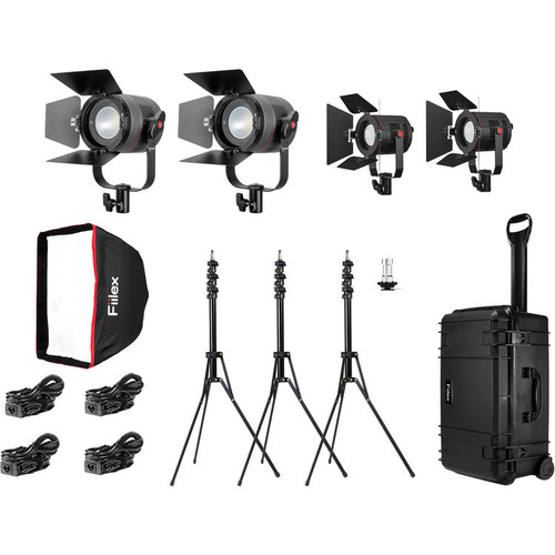 Fiilex K411PP: Four Pro Plus Light LED Interview Travel Kit