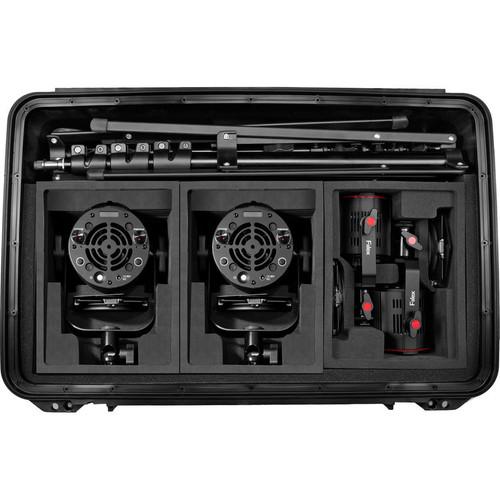 Fiilex K411PP: Four Pro Plus Light LED Interview Travel Kit (Case)