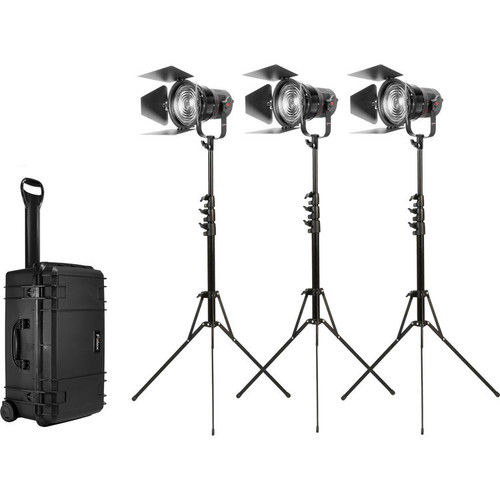 Fiilex K305 Pro Plus: Three Light P360 Pro Plus with 5 inch Fresnel Zoom Lens Travel Kit