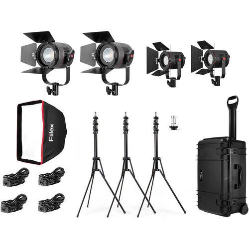 Fiilex K411P: Four Light Pro LED Interview Travel Kit