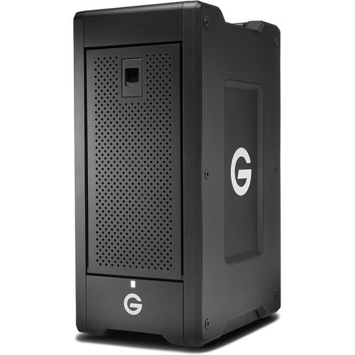 "The G-SPEED Shuttle XL 24TB 8-Bay Thunderbolt 3 RAID Array from G-Technology provides up to 24TB of enterprise-class storage with six 4TB 7200 rpm 3.5"" hard drives."