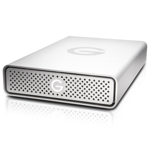 The 4TB G-DRIVE USB 3.0 Type-C External Hard Drive from G-Technology provides up to 4TB of storage.