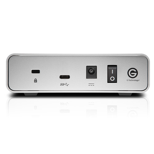The 8TB G-DRIVE USB 3.0 Type-C External Hard Drive from G-Technology provides up to 8TB of storage.