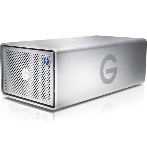 the G-RAID 12TB 2-Bay Thunderbolt 3 RAID Array from G-Technology provides up to 12TB of enterprise-class storage. Includes two 7TB 7200 rpm 3.5 hard drives.
