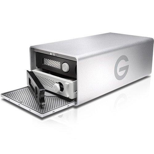 The G-RAID 20TB 2-Bay Thunderbolt 3 RAID Array from G-Technology provides up to 20TB of enterprise-class storage. Includes two `0TB 7200 rpm hard drives.