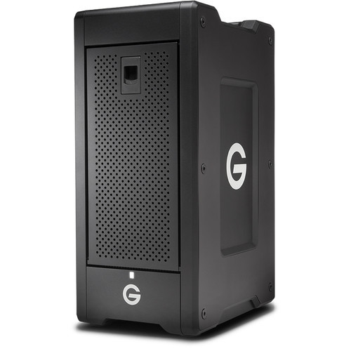 "The G-SPEED Shuttle XL 32TB 8-Bay Thunderbolt 3 RAID Array from G-Technology provides up to 32TB of enterprise-class storage with eight 4TB 7200 rpm 3.5"" hard drives."