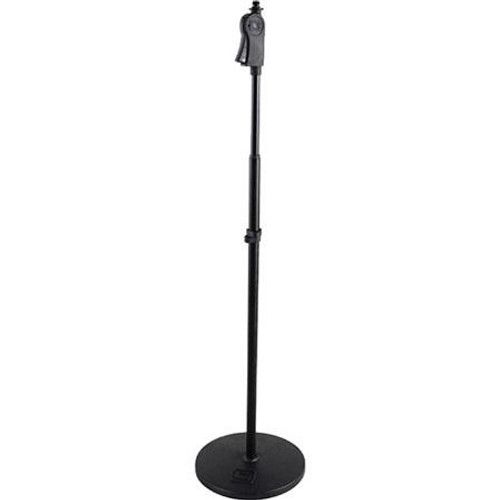 "Gator cases GFW-MIC-1001 Frameworks roundbase mic stand with deluxe one handed clutch and 10"" base, main"