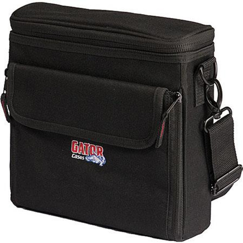 "Gator cases G-IN EAR SYSTEM Bag to accommodate half rack wireless ""In Ear"" monitoring system. Storage for transmitter, ear buds, receiver body back, and power supply, right"
