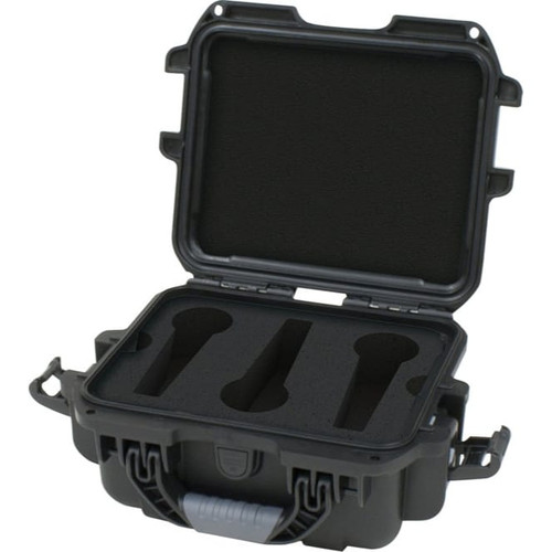 Gator cases GM-06-MIC-WP Black waterproof injection molded case with foam insert to accommodate 6 handheld mics, main