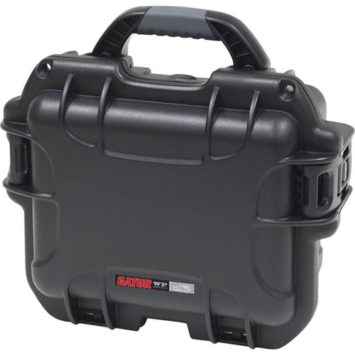 Gator Cases GM-06-MIC-WP Black waterproof injection molded case with foam