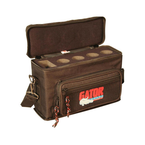 Gator Cases GM-4 Padded Bag for Up to 4 Mics w/ Exterior Pockets for Cables