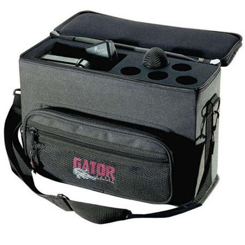 Gator cases GM-5W Padded Bag for 5 Wireless Mic Systems, left