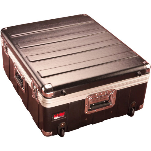 "Gator cases G-MIX 19X21 Molded PE Mixer or Equipment Case; 19"" X 21"" X 6.5""; w/ Wheels, main"
