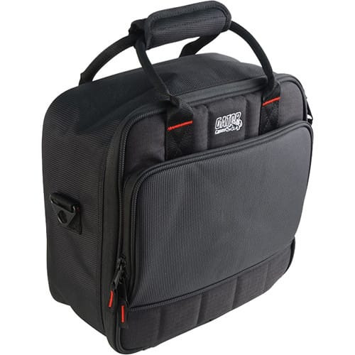 "Gator cases G-MIXERBAG-1212 Updated Padded Nylon Mixer Or Equipment Bag; 12"" X 12"" X 5.5"", left"