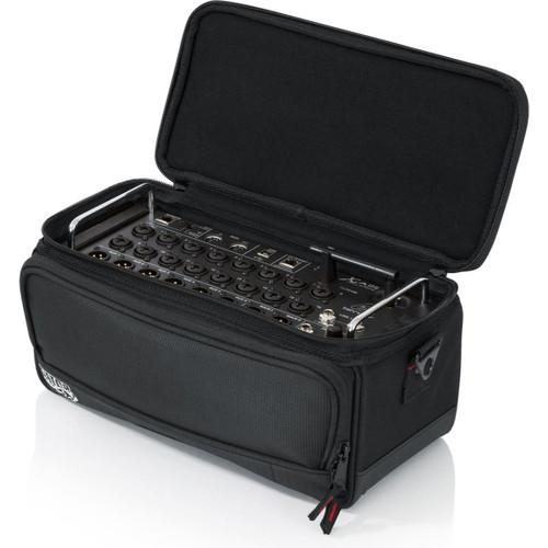 "Gator cases G-MIXERBAG-1306 Padded Nylon Bag Custom Fit for the Behringer X-AIR series Mixers; 13.1"" X 6.25"" X 6"", left"