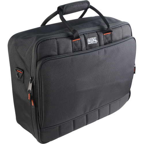 "Gator cases G-MIXERBAG-1815 Updated Padded Nylon Mixer Or Equipment Bag; 18"" X 15"" X 6.5"", left"