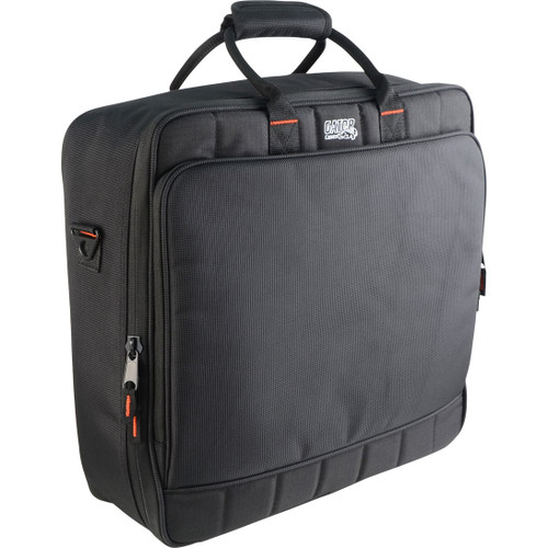 "Gator cases G-MIXERBAG-1818 Updated Padded Nylon Mixer Or Equipment Bag; 18"" X 18"" X 5.5"", left"