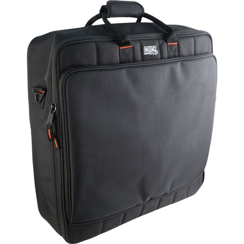 "Gator cases G-MIXERBAG-2020 Updated Padded Nylon Mixer Or Equipment Bag; 20"" X 20"" X 5.5"", left"