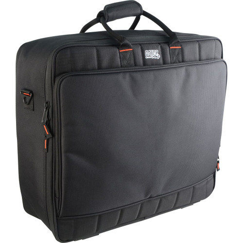"Gator cases G-MIXERBAG-2118 Updated Padded Nylon Mixer Or Equipment Bag; 21"" X 18"" X 7"", left"