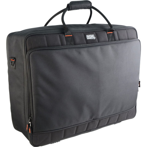 "Gator cases G-MIXERBAG-2519 Updated Padded Nylon Mixer Or Equipment Bag; 25"" X 19"" X 8"", left"