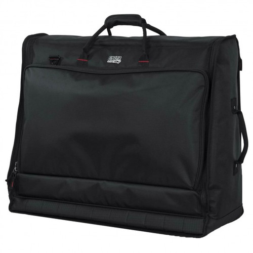 "Gator cases G-MIXERBAG-2621 Padded Nylon Carry Bag for Large Format Mixers; 26"" X 21"" X 8.5"", left"