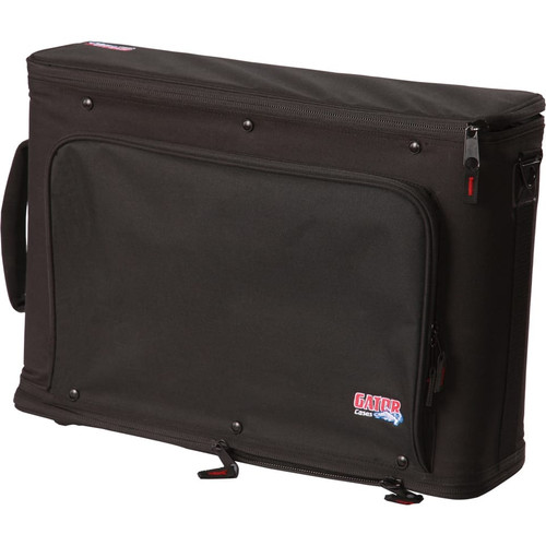 Gator cases GR-RACKBAG-2U 2U Lightweight rack bag with aluminum frame and PE reinforcement, left
