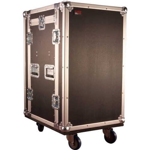 Gator cases G-TOUR 10X12 PU ATA Wood Flight Pop-Up Console Rack Case; 10U Top; 12U Bottom; w/ Casters, main