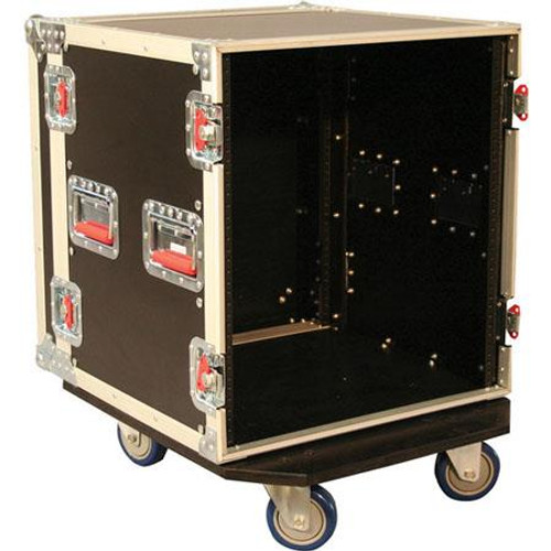 "Gator Cases G-TOUR 12U CAST ATA Wood Flight Rack Case; 12U; 17"" Deep; w/ Casters"