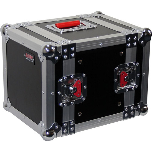 "Gator cases G-TOUR 6UHR ATA Wood Flight Half Rack Case; 6U; 8"" depth, main"