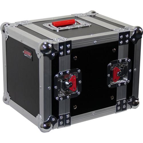 "Gator cases G-TOUR 6UHR ATA Wood Flight Half Rack Case; 6U; 8"" depth, main"