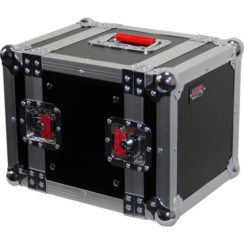 "Gator Cases G-TOUR 6UHR ATA Wood Flight Half Rack Case; 6U; 8"" depth"