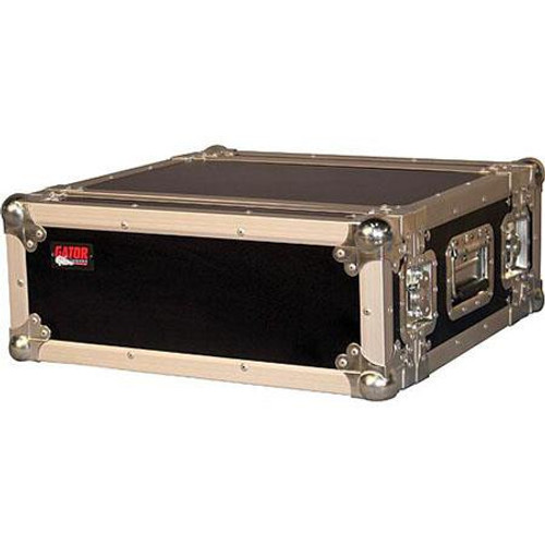 "Gator cases G-TOUR EFX4 ATA Wood Flight Rack Case; 4U; 15"" Deep, left"