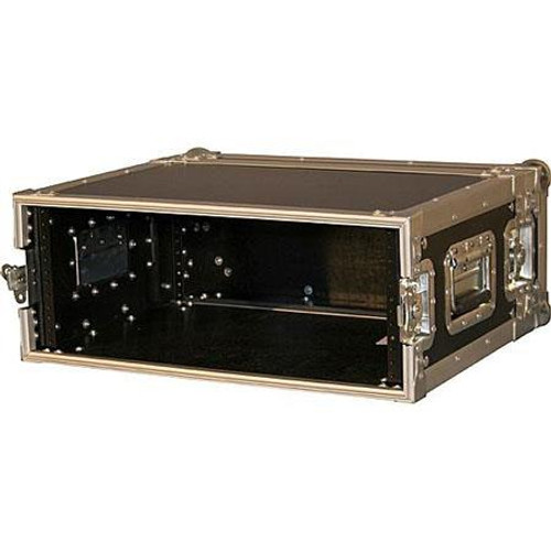 "Gator Cases G-TOUR EFX4 ATA Wood Flight Rack Case; 4U; 15"" Deep"