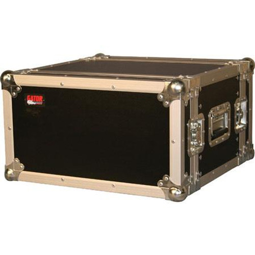 "Gator cases G-TOUR EFX6 ATA Wood Flight Rack Case; 6U; 15"" Deep, left"
