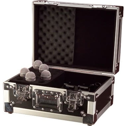 Gator cases G-TOUR M15 ATA Wood Flight Case w/ Drops for 15 Mics; Recessed Latches; Cable Storage, left