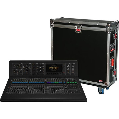 Gator cases G-TOUR M32 ATA Wood Flight Case for Midas M32 large format mixer, left