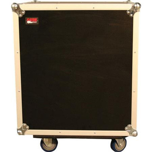 Gator Cases G-TOUR SHK12 CA ATA Shock Wood Flight Rack Case; 12U; w/ Casters