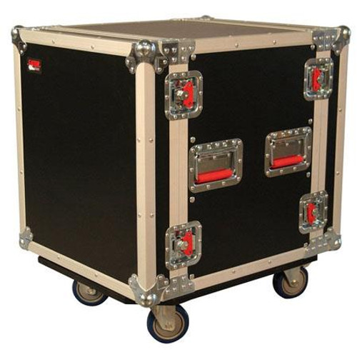 "Gator cases G-TOUR12UCA-24D ATA Wood Flight Rack Case; 12U; 24"" Deep; w/ Casters, main"