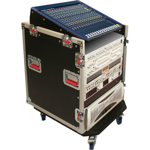 Gator Cases G-TOUR-GRC12X12 ATA Console Wood Flight Rack Case; 12U Top; 12U Bottom