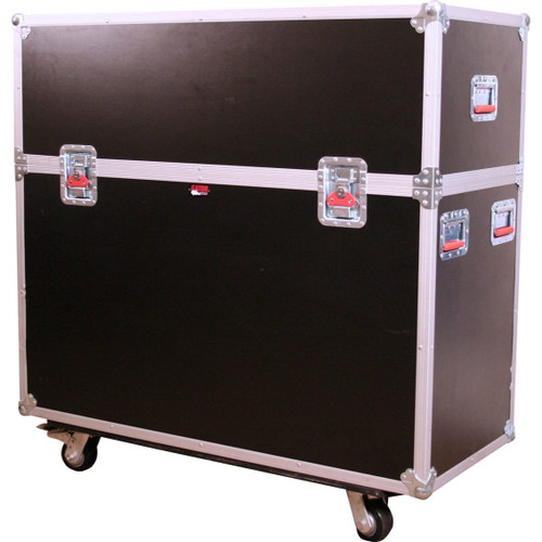 "Gator cases G-TOURLCDLIFT55 ATA Wood Flight Case w/ Hydraulic LCD Lift & Casters; Fits LCD & Plasma Screens Up to 55"", left"